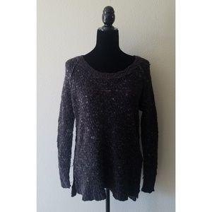 Free people dark grey slouchy wool sweater
